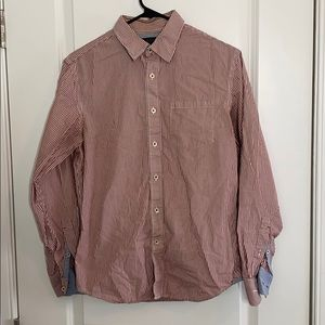Banana Republic, men's size S, red and white shirt